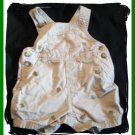 Baby Boys TURTLE Embroidered Tan Khaki Overalls 3 6 6m