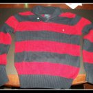 Ralph Lauren Polo Boys Striped Sweater Logo L Large
