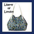 LIBERTY Of LONDON Blue Jennifer Flowers Bag Tote NWT
