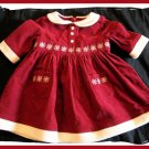 Gymboree Red Family Portrait Corduroy Dress Girls 3 6 m