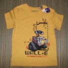 WALL E Boys Yellow Disney Pixar T Shirt NEW NWT 2 3 3T