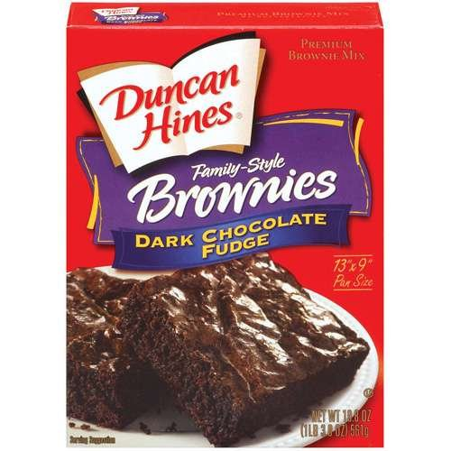 Duncan Hines Family Style Dark Chocolate Fudge Brownies