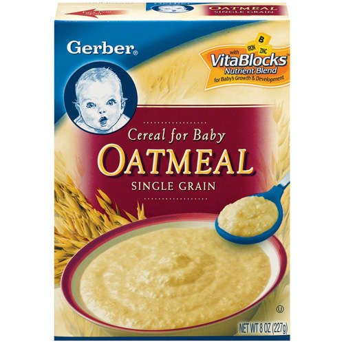 Gerber Oatmeal Single Grain Cereal For Baby, 8 Oz