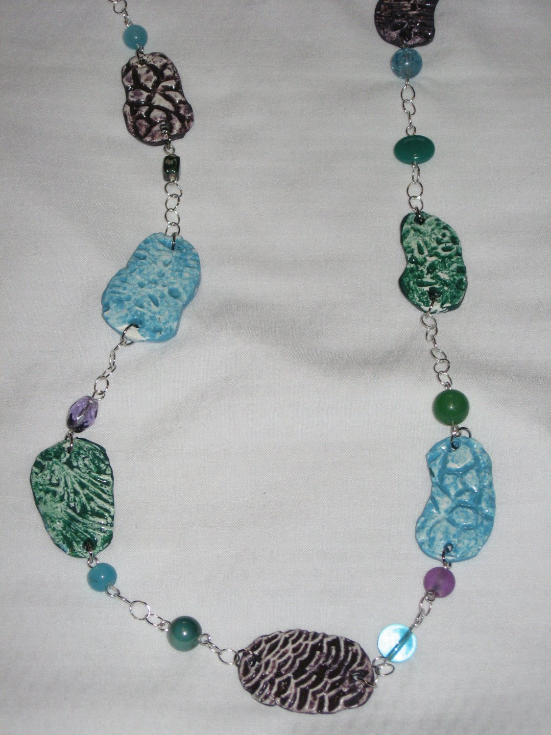Polymer Clay Stone Necklace