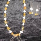 Autumn Tree Neclace and Earring Set