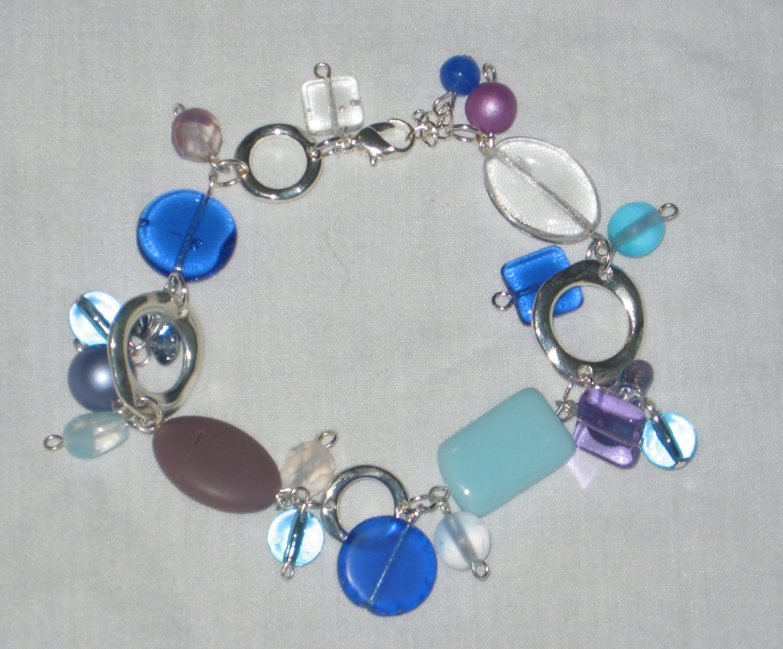 Purple and Blue Shape Necklace