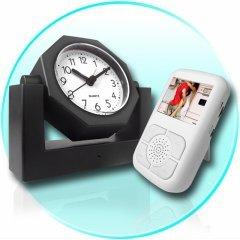 Covert Wireless Spy Camera Alarm Clock + Receiver