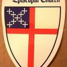 "Episcopal Church Car Decal 3"" x 4 1/8"""