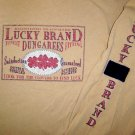 Mustard Yellow LUCKY BRAND long sleeve t-shirt MED