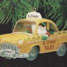 S. Claus Taxi - Vintage Hallmark Keepsake Christmas Ornament 1990 Collectible MIB