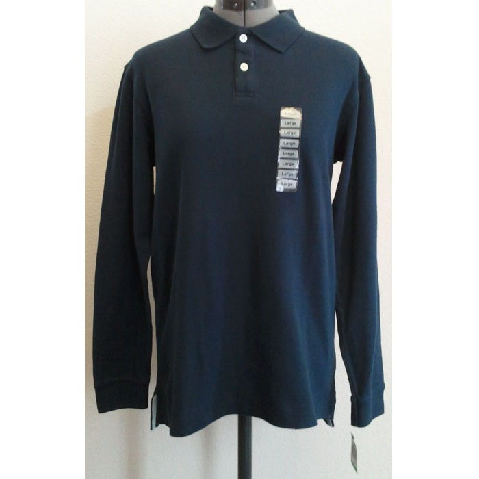 Mens Green Dog Cotton Shirt Long-Sleeved Collared Button-Top Navy Blue L NWT