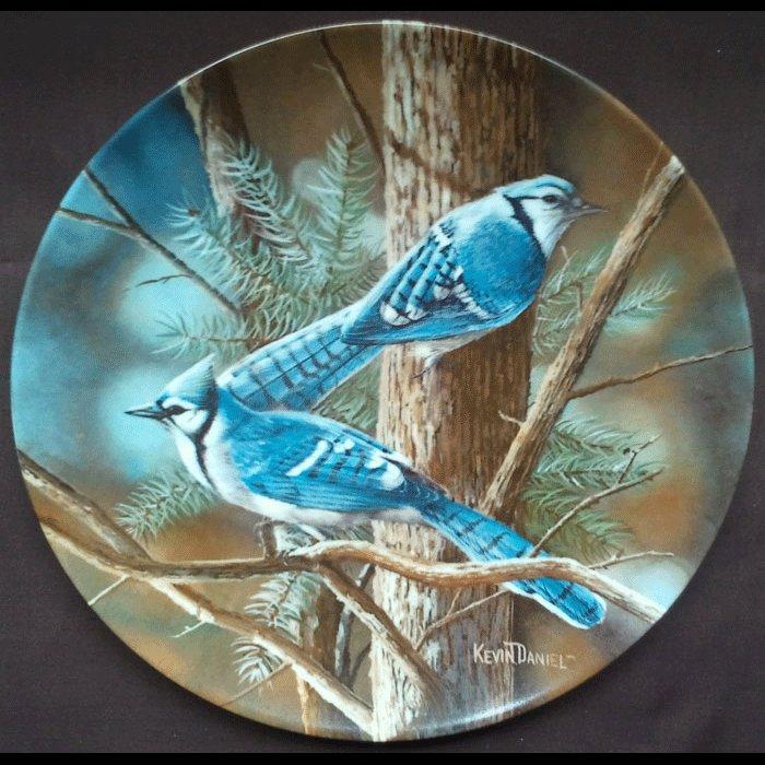 Blue Jay Birds of Your Garden Encyclopedia Britannica Collectors Plate Ltd Ed 1985 Danbury Mint
