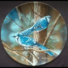 Encyclopedia Britannica Collectors Plate Birds of Your Garden - Blue Jay Ltd Ed 1985 Danbury Mint
