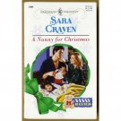 A Nanny for Christmas by Sara Craven Harlequin Nanny Wanted Series PB Book Dec 1997 Issue 1999