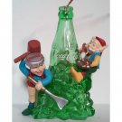 Coca-Cola Christmas Ornament Ice Sculpting Elves North Pole Bottling Works Collectible 1995 MIB