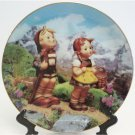 Hummel Collectors Plate Little Explorers Little Companions 23K Gold Trim Danbury Mint Registered
