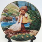 Hummel Collectors Plate Goose Girl Gentle Friends Collection 23K Gold Trim Danbury Mint Registered
