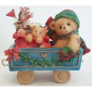 Cindy Santa Express Train Car Cherished Teddies This Train is Bound for Holiday Surprises 219177