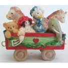Santa Express Toy Car Cherished Teddies Rolling Along with Friends and Smiles 219096