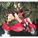 Motorcycle Chums Christmas Ornament Hallmark Keepsake Magic Light Ornament 1997 Collectible QLX7495
