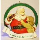 Coca-Cola Santa Ornament 1938 Advertising Memorabilia Christmas is Love Vintage Collectible 1991 MIB