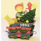 Train Car Ornament Christmas Express Coal Tender Car 3 Vintage Carlton Cards Collectible 1992 MIB