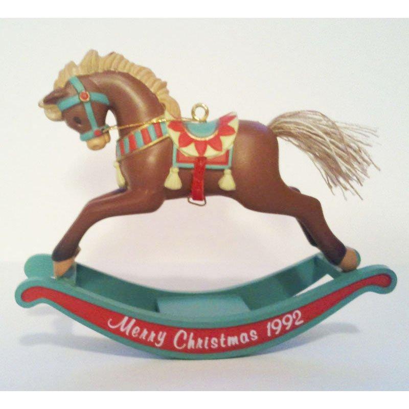 Rocking Horse Fun Ornament Vintage Carlton Cards Heirloom Christmas Ornament Collectible 1992 MIB