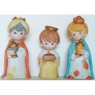 Homco Three Wise Men Nativity Set of 3 Porcelain Figurines Vintage Christmas Collectible 5609