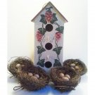 Decorative Birdhouse Set with Nests Vintage Home Interiors 5pc Set 12inH