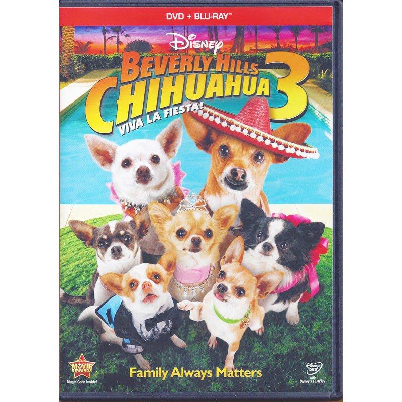 Beverly Hills Chihuahua 3 Viva La Fiesta Disney Blu-Ray and