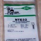 NTE 32 PNP Sound Vertical Output Transistor
