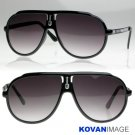 Turbo 80s Retro Large EMO Trendy Sunglasses Black K1008