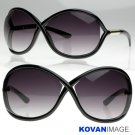 Womens Designer Inspired Large Sunglasses K1007 Black
