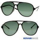 Vintage Unisex Large Aviator Sunglasses K1001 Tortoise