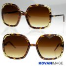 Vintage Hollywood Womens Oversize Sunglasses K1005 TORT