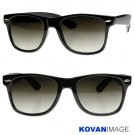 Retro Movie Star New Wayfarer Sunglasses K1002 Black