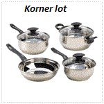 Seven Piece Stainless Steel Cookware Set