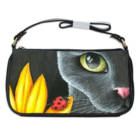 Shoulder Clutch Bag Purse from painting Cat 510 ladybug