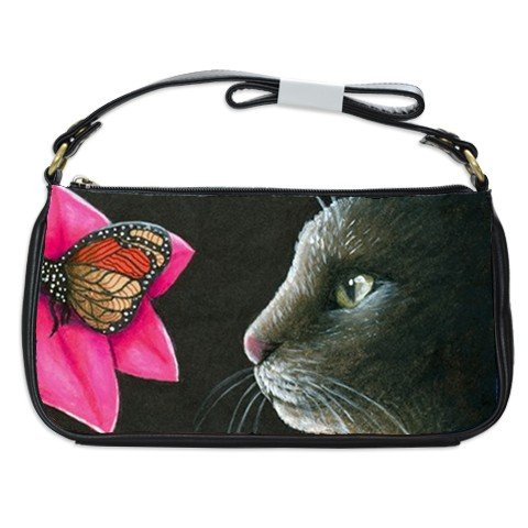 Shoulder Clutch Bag Purse from painting Cat 518 butterfly