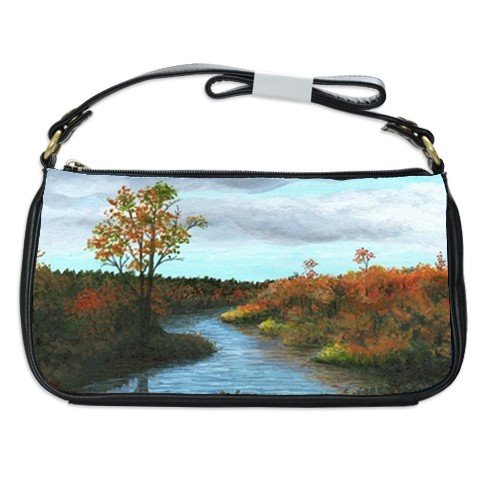 Shoulder Clutch Bag Purse from painting Landscape 146 fall