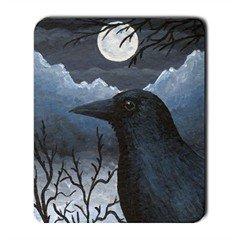 Mousepad from art design Bird 58 crow raven