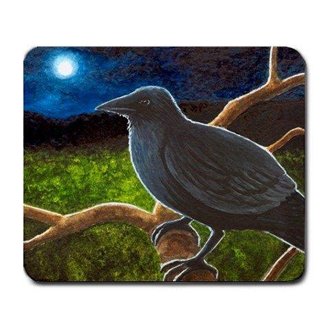 Mousepad from art design Bird 61 crow raven