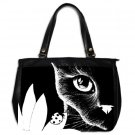 Office Handbag Purse from art Cat 510 ladybug Black & White