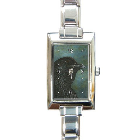 Rectangular Italian Charm Watch from art Bird 26 crow raven