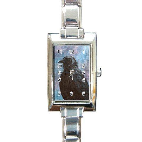 Rectangular Italian Charm Watch from art Bird 59 crow raven