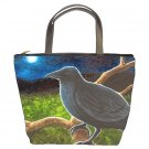 Bucket bag Purse from art painting Bird 61 Crow Raven