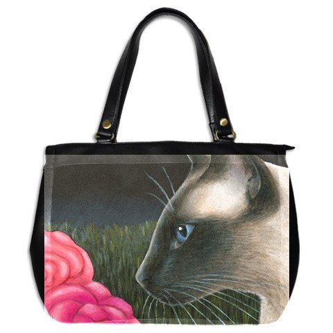 Office Handbag Purse from art painting Cat 546 siamese