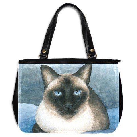 Office Handbag Purse from art painting Cat 547 siamese