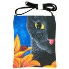 Shoulder Sling Bag Purse from art painting Cat 551 ladybug