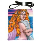 Shoulder Sling Bag Purse from art painting Mermaid 13 dolphin
